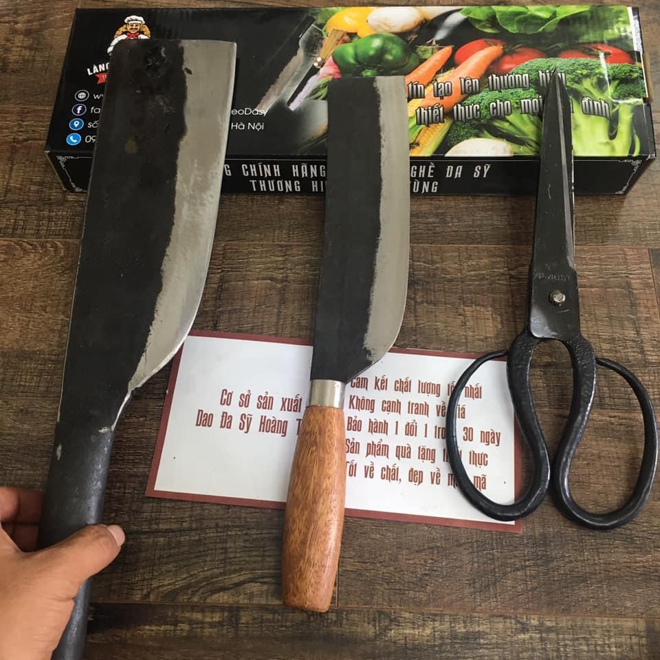 dao chặt xương dao thái và dao kéo cắt gà
